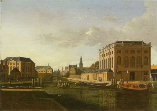 The Two Synagogues in Amsterdam | Gerrit Adriaensz.Berckheyde | Oil Painting