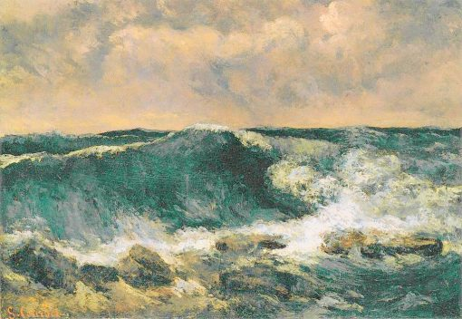 The Wave   Gustave Courbet   Oil Painting