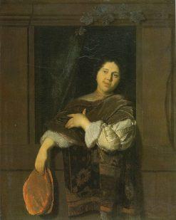 Cavalier at a Window | Jacob Ochtervelt | Oil Painting