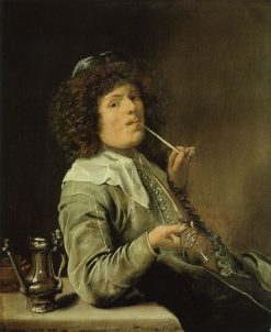 Man Smoking with an Empty Wine Glass | Jan Miense Molenaer | Oil Painting