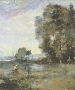Summer Landscape   Jean Baptiste Camille Corot   Oil Painting