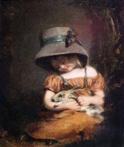 Girl with a Rabbit | John Hoppner | Oil Painting