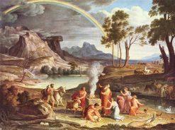 Thanksgiving of Noah in a Landscape | Joseph Anton Koch | Oil Painting