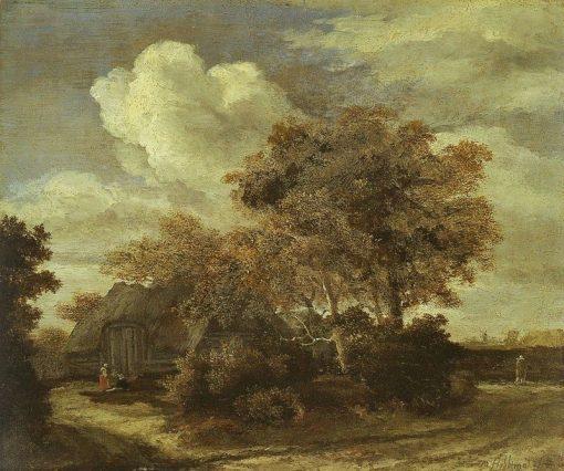 A Hut near a Road | Meindert Hobbema | Oil Painting
