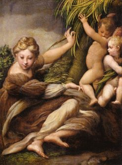 Virgin and Child with an Angel | Parmigianino | Oil Painting