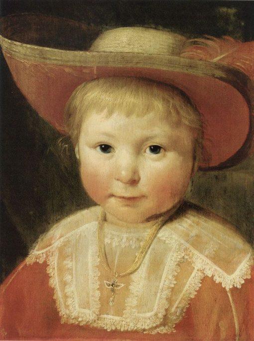 Portrait of a Child   Pieter Claesz. Soutman   Oil Painting