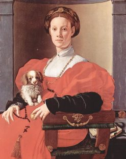 Portrait of a Woman in a Red Dress | Pontormo | Oil Painting