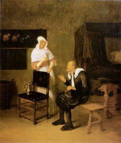 Scene at an Inn   Quiringh van Brekelenkam   Oil Painting
