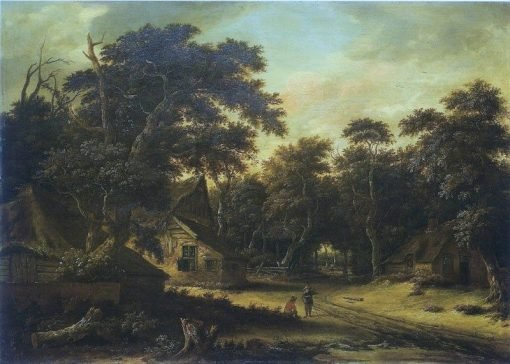Farm in a Forest | Roelof van Vries | Oil Painting
