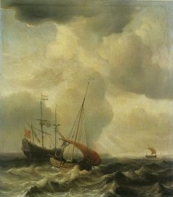 Storm at Sea | Willem van de Velde the Younger | Oil Painting
