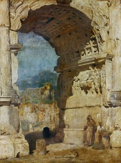 The Triumphal Arch of Titus in Rome | Franz von Lenbach | Oil Painting