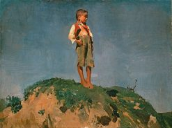 Shepherd Boy on a Grassy Hill | Franz von Lenbach | Oil Painting