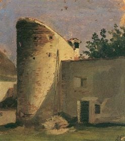 Tower of the City Wall at Parents' House in Schrobenhausen | Franz von Lenbach | Oil Painting