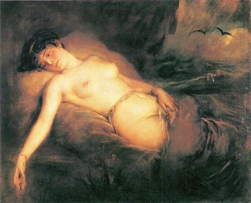 Lying Female Nude | Franz von Lenbach | Oil Painting