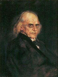 Theodor Mommsen | Franz von Lenbach | Oil Painting