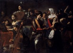 Company with Fortune-Teller | Valentin de Boulogne | Oil Painting