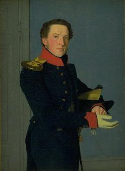Portrait of the Naval Lieutenant D Christen Schifter Feilberg | Christen Købke | Oil Painting