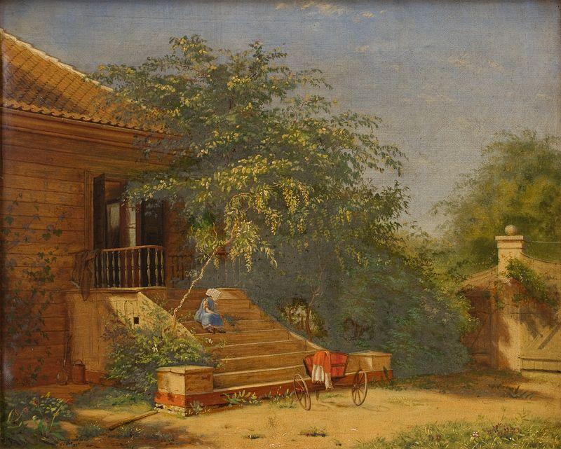 The Garden Steps Leading to the Artist's Studio at Blegdammen