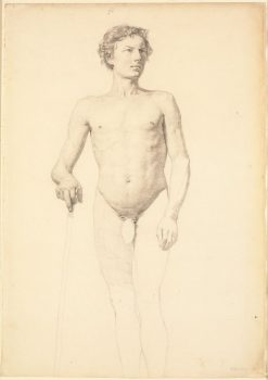 Male Nude Standing (study) | Christen Købke | Oil Painting