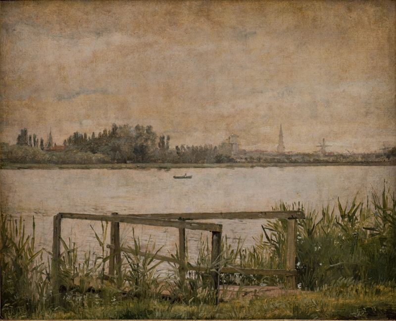 View of Copenhagen seen from Dosseringen | Christen Købke | Oil Painting