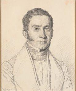 Portrait of Captain C.B. Købke | Christen Købke | Oil Painting