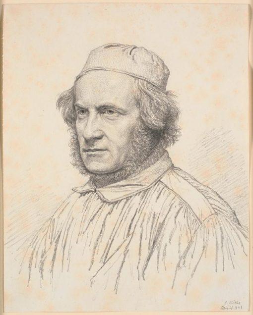 Portrait of H.W.Bissen   Christen Købke   Oil Painting