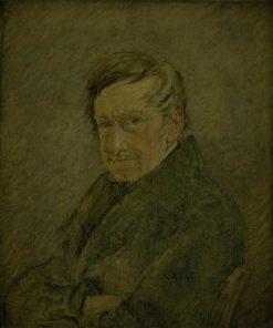 Portrait of the Animal Painter C.B. Gebauer | Christen Købke | Oil Painting