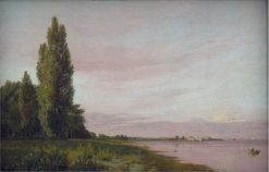 View of the Bay near the Copenhagen Limekiln Looking North: A Quiet Summer's Afternoon | Christen Købke | Oil Painting