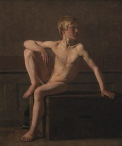 Nude Figure; Sitting Boy | Christen Købke | Oil Painting