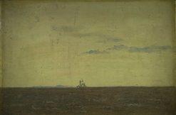 Seascape: Sky at Sunset | Christen Købke | Oil Painting