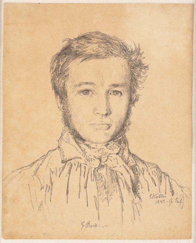 Portrait of Jørgen Roed   Christen Købke   Oil Painting