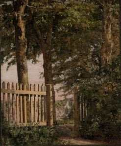 The Garden Gate of the Artist's Home at Blegdammen | Christen Købke | Oil Painting