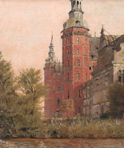 Frederiksborg Castle seen from the Northwest (study) | Christen Købke | Oil Painting