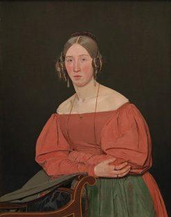 Portrait of the Atist's Sister Cecilie Margrethe Petersen | Christen Købke | Oil Painting