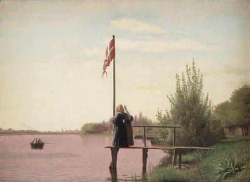 A View from Dosseringen near the Sortedam Lake | Christen Købke | Oil Painting