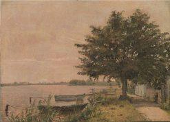 View of Dosseringen towards Nørrebro | Christen Købke | Oil Painting