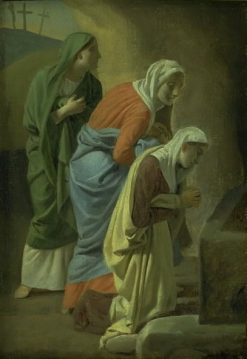 The Three Maries at the Tomb of Christ | Christoffer Wilhelm Eckersberg | Oil Painting