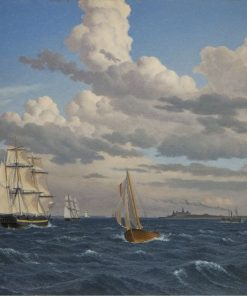 Ships in the Sound North of Kronberg Castle