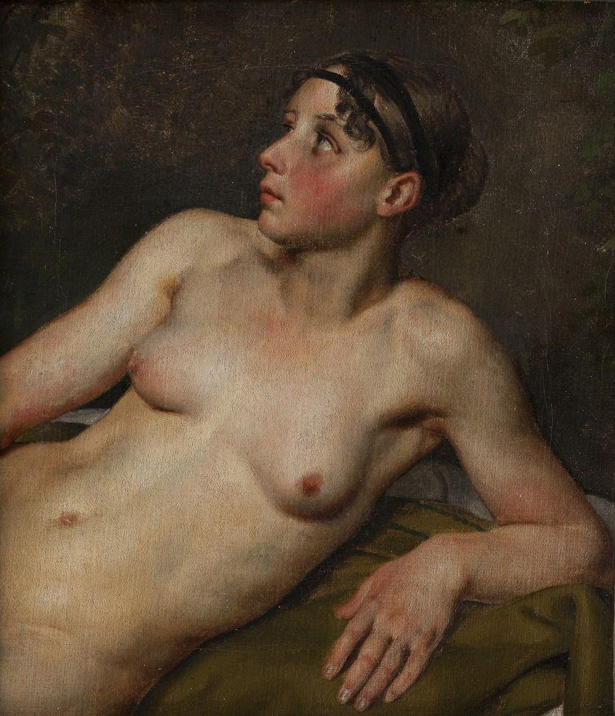 Reclining Nude | Christoffer Wilhelm Eckersberg | Oil Painting