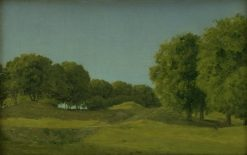 Study from the Deerpark near Copenhagen | Christoffer Wilhelm Eckersberg | Oil Painting