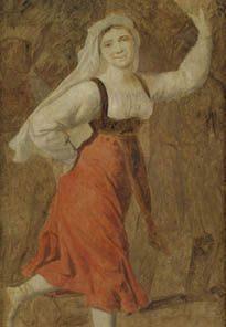 A Dancing Italian Girl | Christoffer Wilhelm Eckersberg | Oil Painting