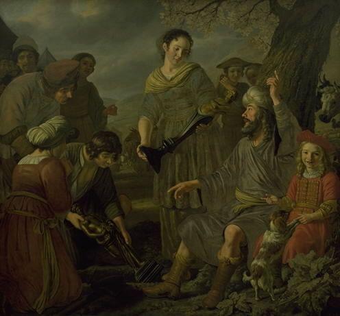Jacob Burying the Pagan Idols | Jan Victors | Oil Painting