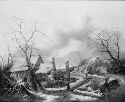 Winter Landscape | Jan Wijnants | Oil Painting