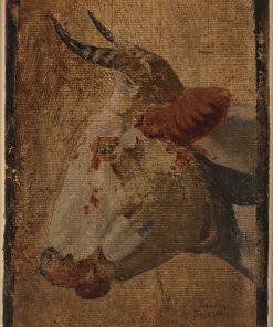 Head of an Ox   Johan Thomas Lundbye   Oil Painting