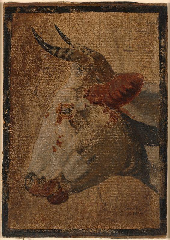 Head of an Ox | Johan Thomas Lundbye | Oil Painting