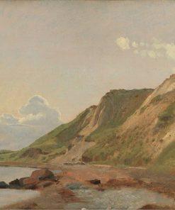 Study of Cliffs on the South Coast at Refsnæs | Johan Thomas Lundbye | Oil Painting