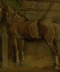 Racehorse in the Stables | Johan Thomas Lundbye | Oil Painting