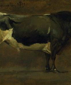 Study of a Bull (Sortbroget Tyr) | Johan Thomas Lundbye | Oil Painting