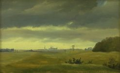 A View of Frederiksborg from Hesterhaven | Johan Thomas Lundbye | Oil Painting