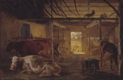 A Cowshed on a Farm at Vejby